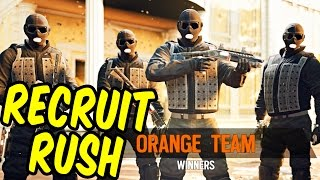 RECRUIT RUSH 2 - Rainbow Six Siege Funny Moments & Epic Stuff