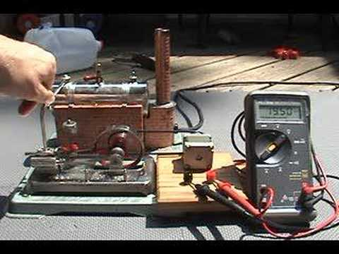 Model steam engine electric generator DC