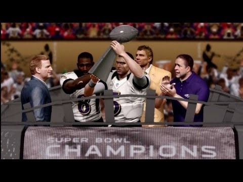 Madden 13 BALTIMORE RAVENS SUPERBOWL XLVII CHAMPIONS POST GAME CELEBRATION!!!!!