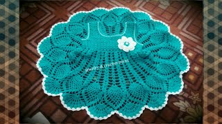 How to crochet a baby dress pineapple stitch 6-9 month ( part 2)