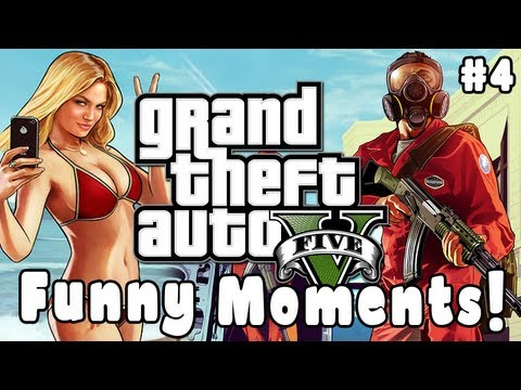 Gta 5 Funny Moments! #4 (blowjob, Knock Outs, Crashes, Fails & More!) video