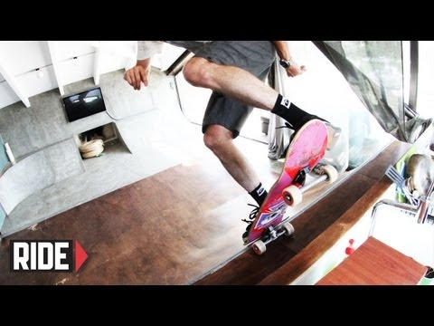 Skateable Living Room in Athens, Greece with Tony Hawk
