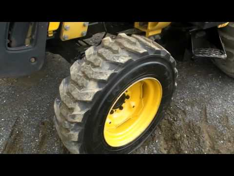 John Deere 110 Diesel Backhoe Loader Construction Machine Tractor Cab Hydro...
