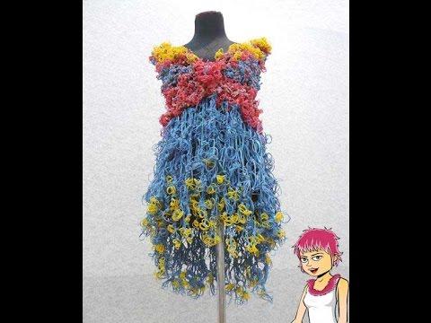 Плетение из резинок на рогатке видео платье