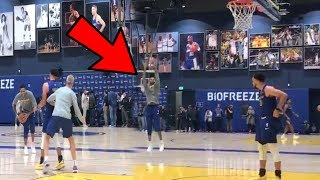 Stephen Curry TWEAKING D'Angelo Russells Jump Shot Release at Golden State Warriors Chase Center