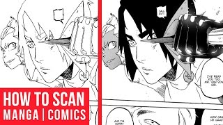 How To Scan Manga | Comic Pages