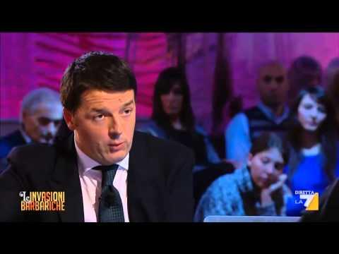Matteo Renzi alle Invasioni Barbariche 17/01/14