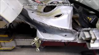 BMW 5. The rear part repair. Ремонт задней части.