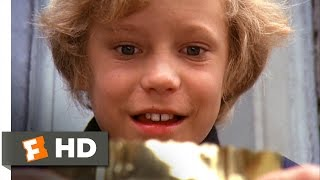 Willy Wonka & the Chocolate Factory - Charlie Finds the Golden Ticket Scene (2/10) | Movieclips