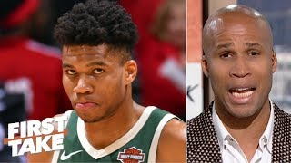 Blame Giannis if the Bucks can't beat the Raptors, reach NBA Finals - Richard Jefferson | First Take