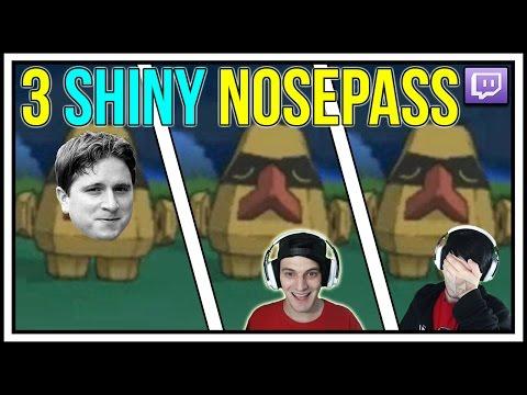 3 SHINY NOSEPASS! WIN AND FAIL! SHINY POKEMON REACTIONS IN POKEMON X AND Y!
