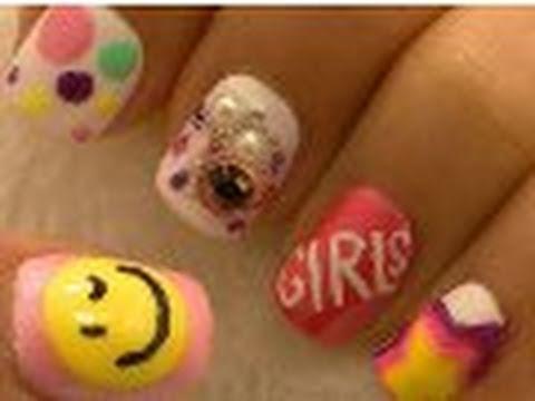 *Girls Generation SNSD* Korean Pop Inspired Nail Art / Arte para las uñas Pop Coreano