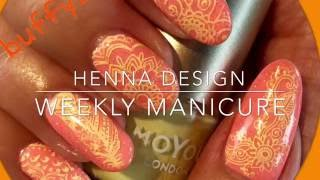 Henna Design with Ejiubas/3140 babygirl plates - weekly manicure