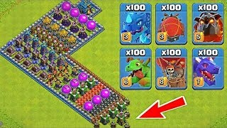 Who Can Survive This Difficult Trap on COC? Trap VS Troops Clash of Clans New