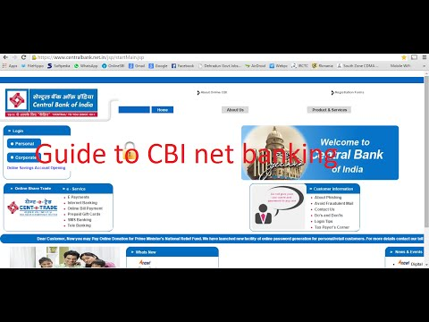 Central bank of india internet banking guide to login to account and services