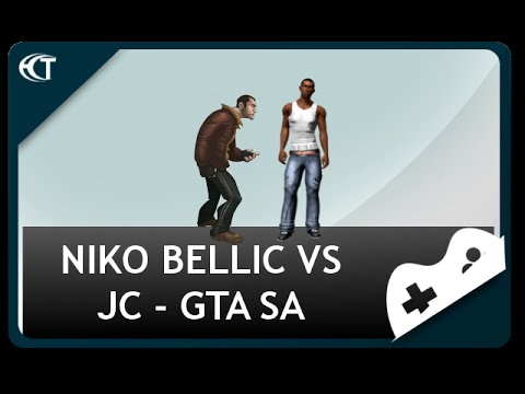 Niko Bellic vs Carl Johnson GTA SA IV