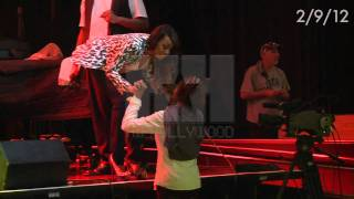 EXCLUSIVE! Whitney Houston at Clive Davis Pre-Grammy Party Rehearsal 2012 - HipHollywood