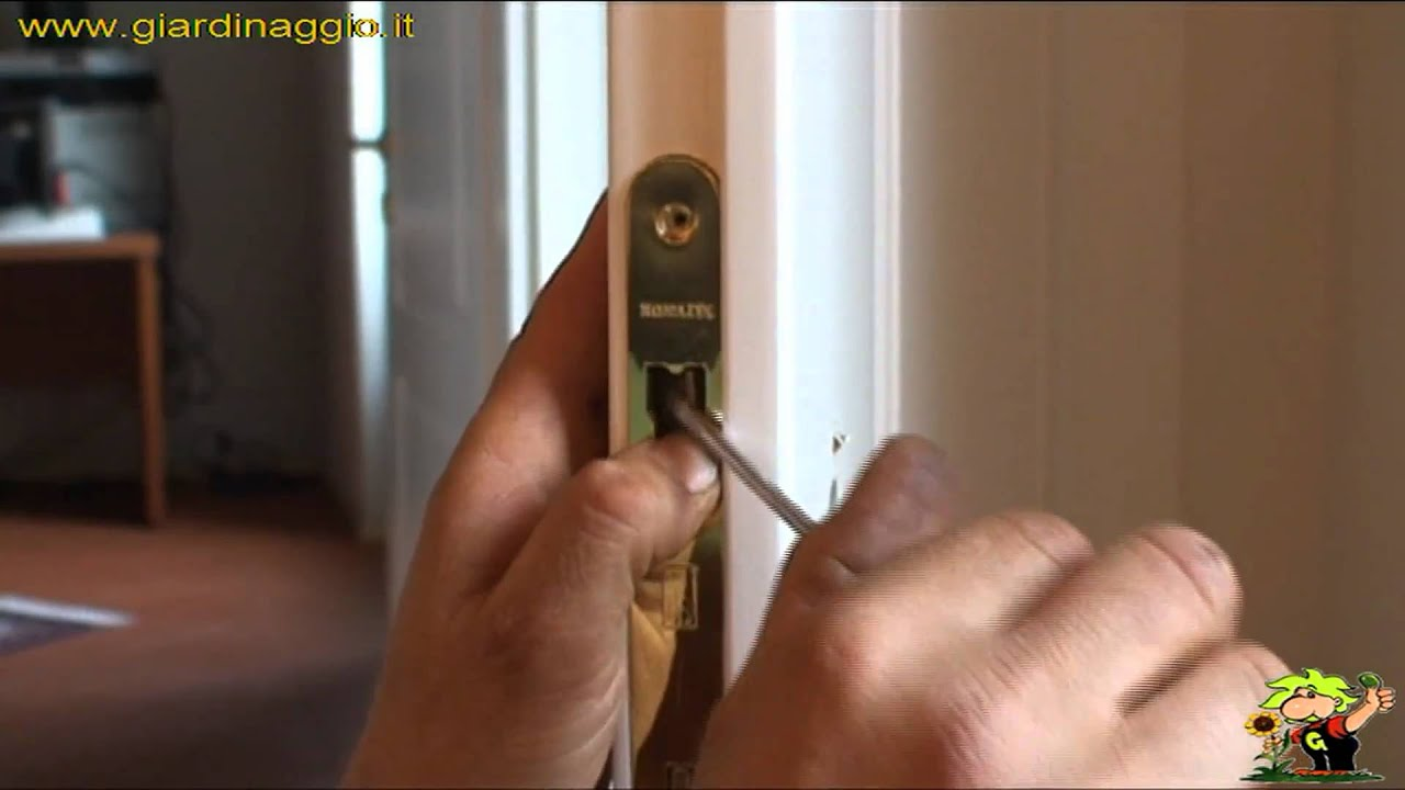 Come smontare serratura