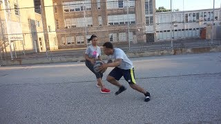 Playing my girlfriend in basketball for my heart....😱