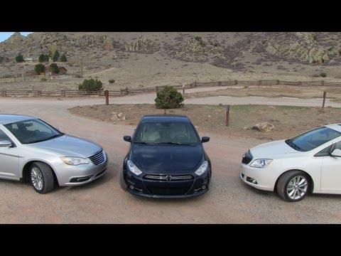 2013 Dodge Dart vs Buick Verano vs Chrysler 200 0-60 MPH Starter Sedan Mashup Review