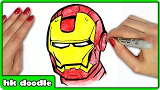 how to draw iron man from avengers easy step by step superhero drawing tutorial for
