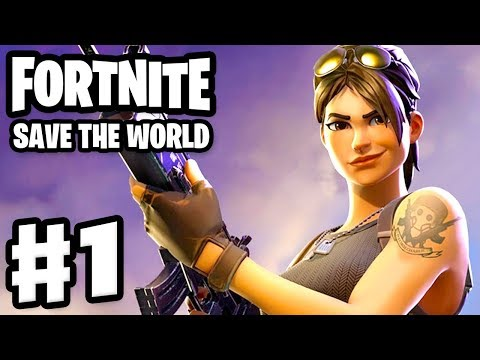 Fortnite: Save the World - Gameplay Walkthrough Part 1 - Stonewood (PC)