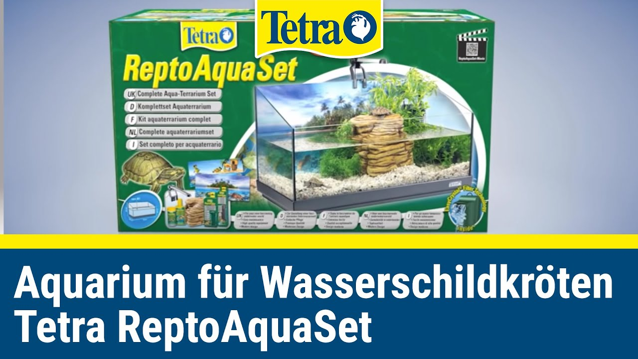 ein zuhause f r wasserschildkr ten tetra reptoaquaset youtube. Black Bedroom Furniture Sets. Home Design Ideas