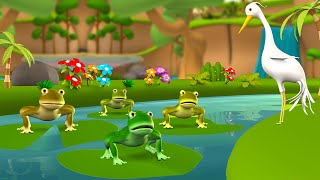 The Frogs who Wished for a King 3D Animated Hindi Moral Stories Kids मेंढक की ईच्छा कहानी Kids Tales