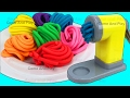 Learn Colors with Play Doh Pasta Spaghetti Making Machine Toy Appliance and Surprise Toys