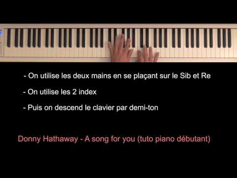 Donny Hathaway  A song for you intro piano tutoriel