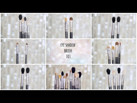 ALL ABOUT BRUSHES: EYE SHADOW- HOW TO USE I BRANDS I BLENDING