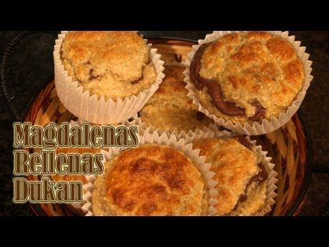 Magdalenas rellenas Dukan - Stuffed Cupcakes - Receta fase crucero