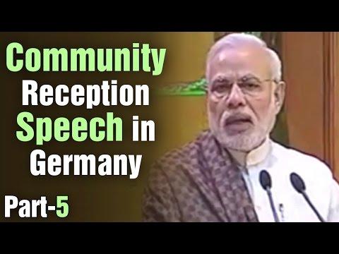 PM Modi speech at Community reception in Berlin, Germany | Part 5