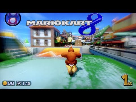 Mario Kart 8 Gameplay - Demo Wii U HD (3 New Tracks/ DK+Bike) E3M13