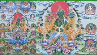 Plegarias a las 21 Taras y dedicación en Tibetano