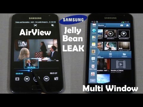Galaxy Note - Jellybean 4.1.2 - Multi Window & AirView (From Note 2) - How to Install - Cursed4Eva