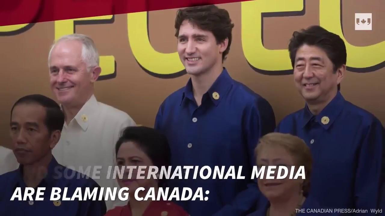 Blame Canada: International media say Trudeau stalled TPP