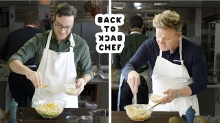 Gordon Ramsay Challenges Amateur Cook to Keep Up with Him | Back-to-Back Chef | Bon Appetit