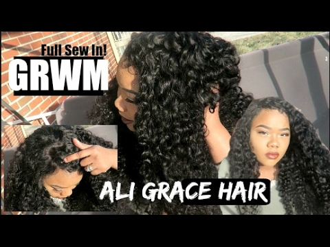 Get Ready With Me: Full Sew-In With Ali Grace Hair