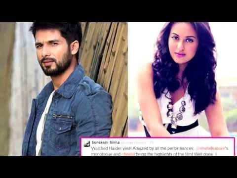 Sonakshi Sinha sings praises for Shahid Kapoor's Haider