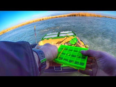Зимняя рыбалка от первого лица снятая на GoPro Hero 4 на Весёловском водохранилище