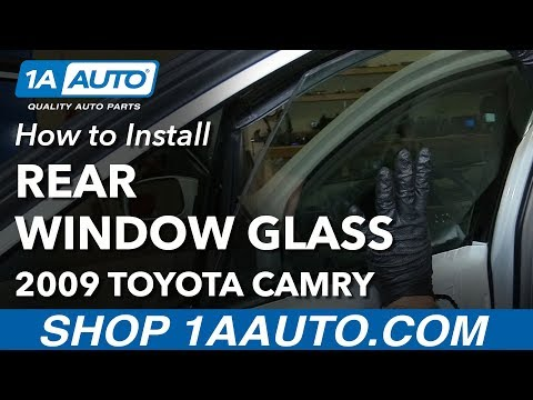 How to Install Replace Rear Window Glass 2009 Toyota Camry
