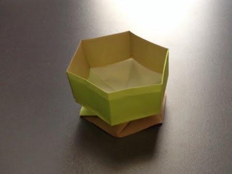 折り方 折り紙四角箱折り方 : 折り紙 すごい六角箱 折り方 ...