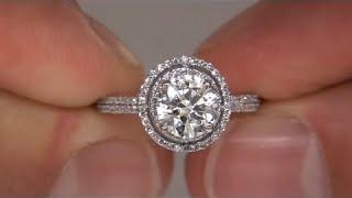 Circa 1980's 1.37 Carat Diamond Engagement Ring 14kt Gold