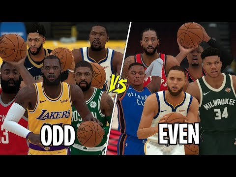 NBA 'Even' vs 'Odd' Numbered Jerseys! NBA 2K19 Simulation!