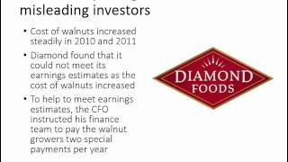 How does the SEC allege that Diamond Foods fraudulently increased earnings?