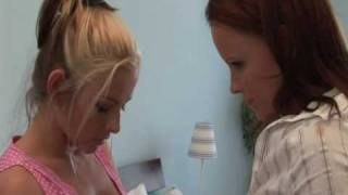 Lesbian Jo Selling Stockings to Zuzka Light