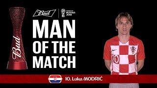 Luca MODRIC (Croatia)- Man of the Match - MATCH 8