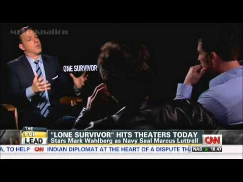Mark Wahlberg Marcus Luttrell Interview The Movie Lonesurvivor 1 10 ...