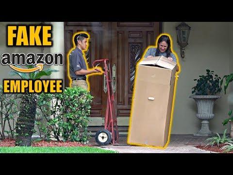 FAKE AMAZON EMPLOYEE DELIVERY PRANK! thumbnail